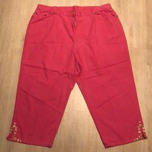 Ruby Rd Hot Pink Capri